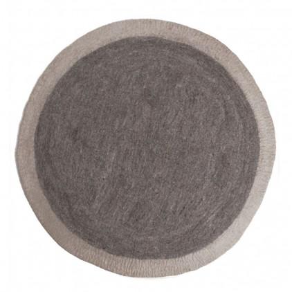 tapis enfant rond en feutre gris pierre Lumbini par Muskhane