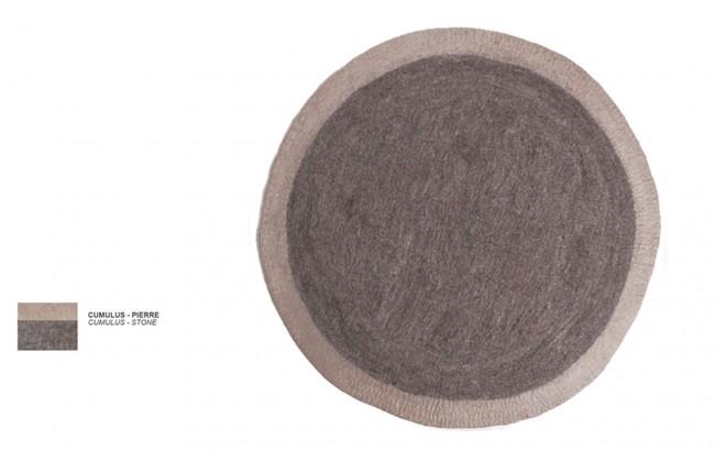 kids grey stone felt round rug Lumbini by Muskhane