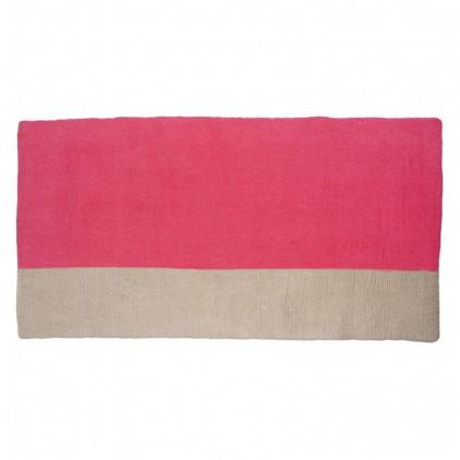alfombra infantil rectangulo de fieltro rosa Potala por Muskhane