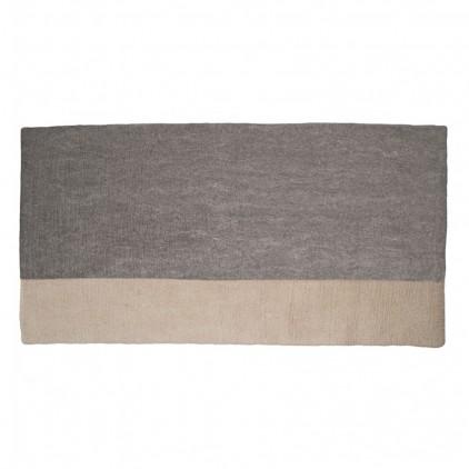 tapis enfant rectangle en feutre gris pierre Potala par Muskhane