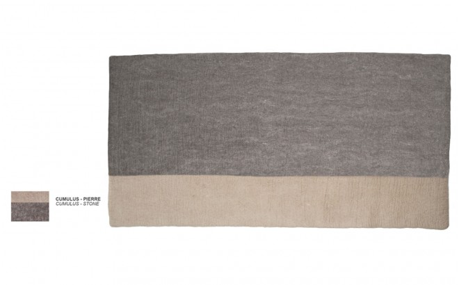 kids grey stone felt rectangle rug Potala by Muskhane