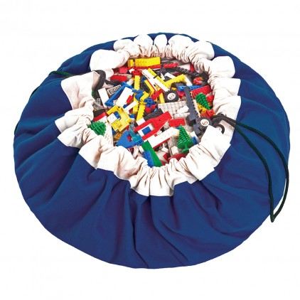 Toy Storage Bag and Portable Play Mat Toys Organizer Play and Go Cobalt Blue