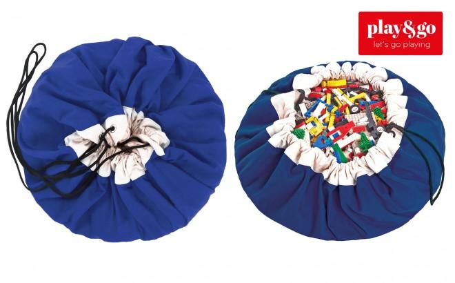 Sac Rangement de Jouets et Tapis de Jeux Play and Go Bleu Cobalt