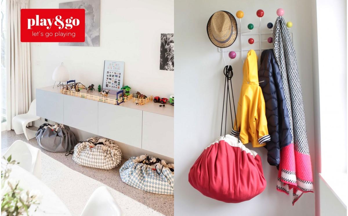 sac rangement de jouets et tapis de jeux play and go bleu pour chambres enfants garcon. Black Bedroom Furniture Sets. Home Design Ideas