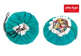 Toy Storage Bag and Portable Play Mat Toys Organizer Play and Go turquoise