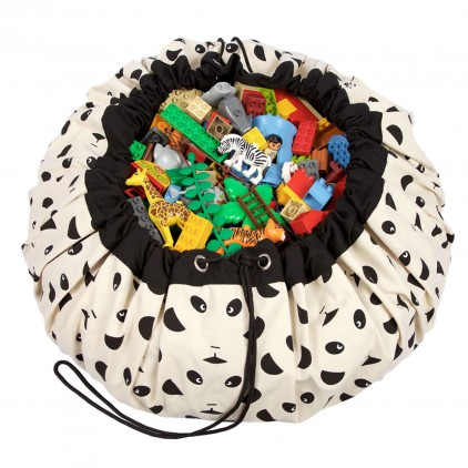 Toy Storage Bag and Portable Play Mat Toys Organizer Play and Go Panda