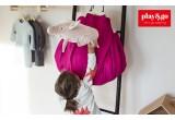 Saco Alfombra de Almacenamiento Play and Go para Habitaciones Infantilesmbra de Almacenamiento Play and Go zigzag azul