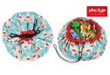Toy Storage Bag and Portable Play Mat Toys Organizer Play and Go badminton