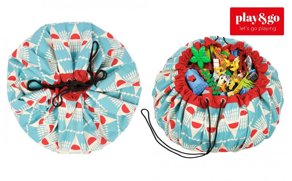 sac rangement de jouets et tapis de jeux play and go badminton pour chambres enfants. Black Bedroom Furniture Sets. Home Design Ideas