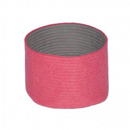 kids pink felt reversible baskets S by Muskhane