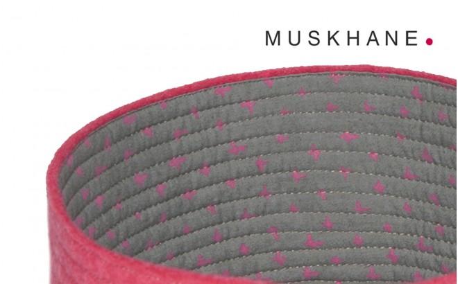 corbeilles enfants reversibles feutre rose S par Muskhane