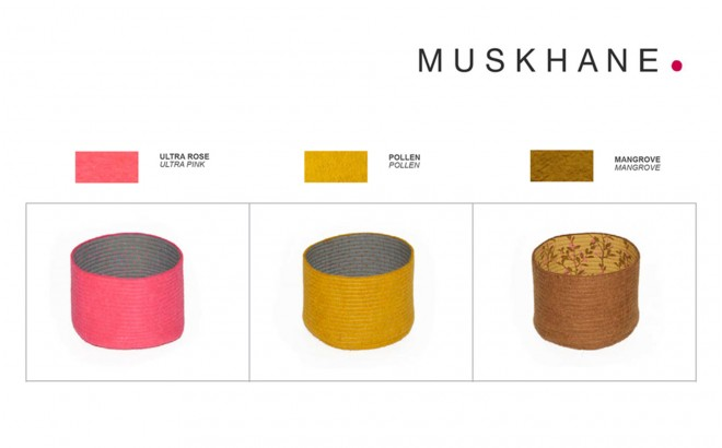 kids felt reversible baskets S by Muskhane
