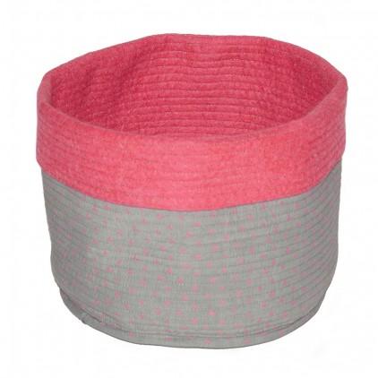 kids pink felt reversible baskets M by Muskhane
