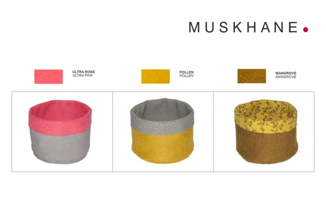 kids felt reversible baskets M by Muskhane