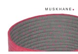 corbeilles enfants reversibles feutre rose M par Muskhane