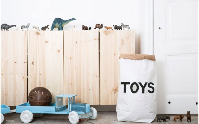 sac de rangement en papier toys par tellkiddo