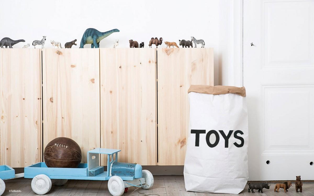 sac de rangement en papier toys
