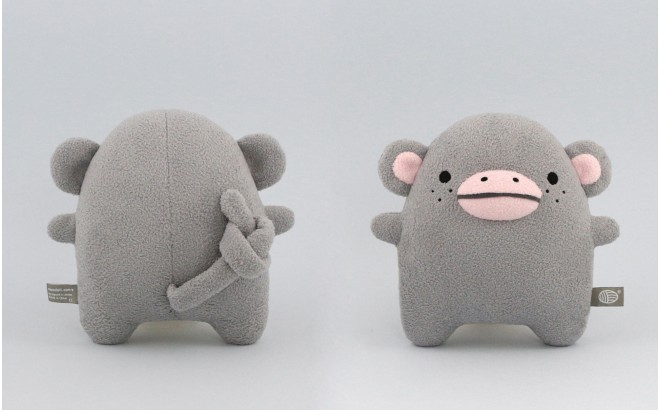 Monkey plush toy for babies and kids Ricecoco grey by Noodoll
