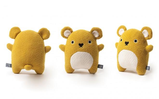 peluche doudou bébé et enfants Ricecraker jaune par Noodoll