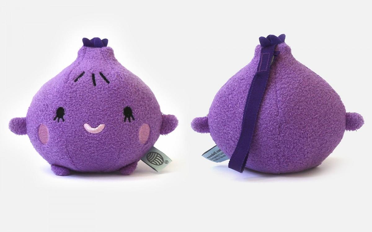 peluche doudou Ricefig violet