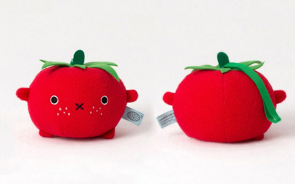 plush toy Ricetomato red
