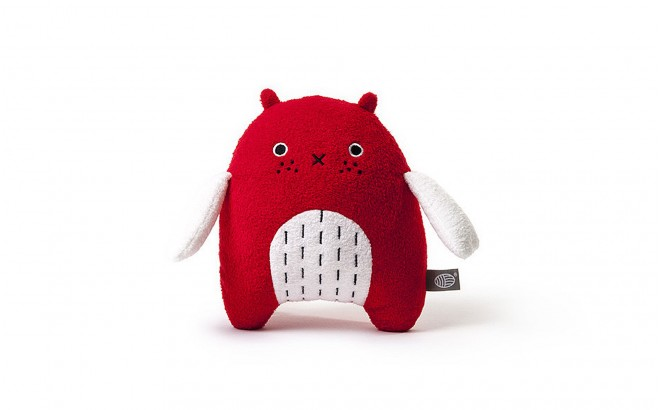 plush toy for babies and kids Mi red by Noodoll