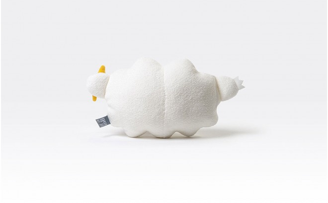 cloud plush toy for babies and kids Ricestorm white by Noodoll