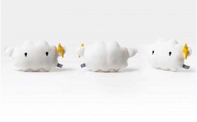 peluche doudou nuage bébé et enfants Ricestorm blanc par Noodoll