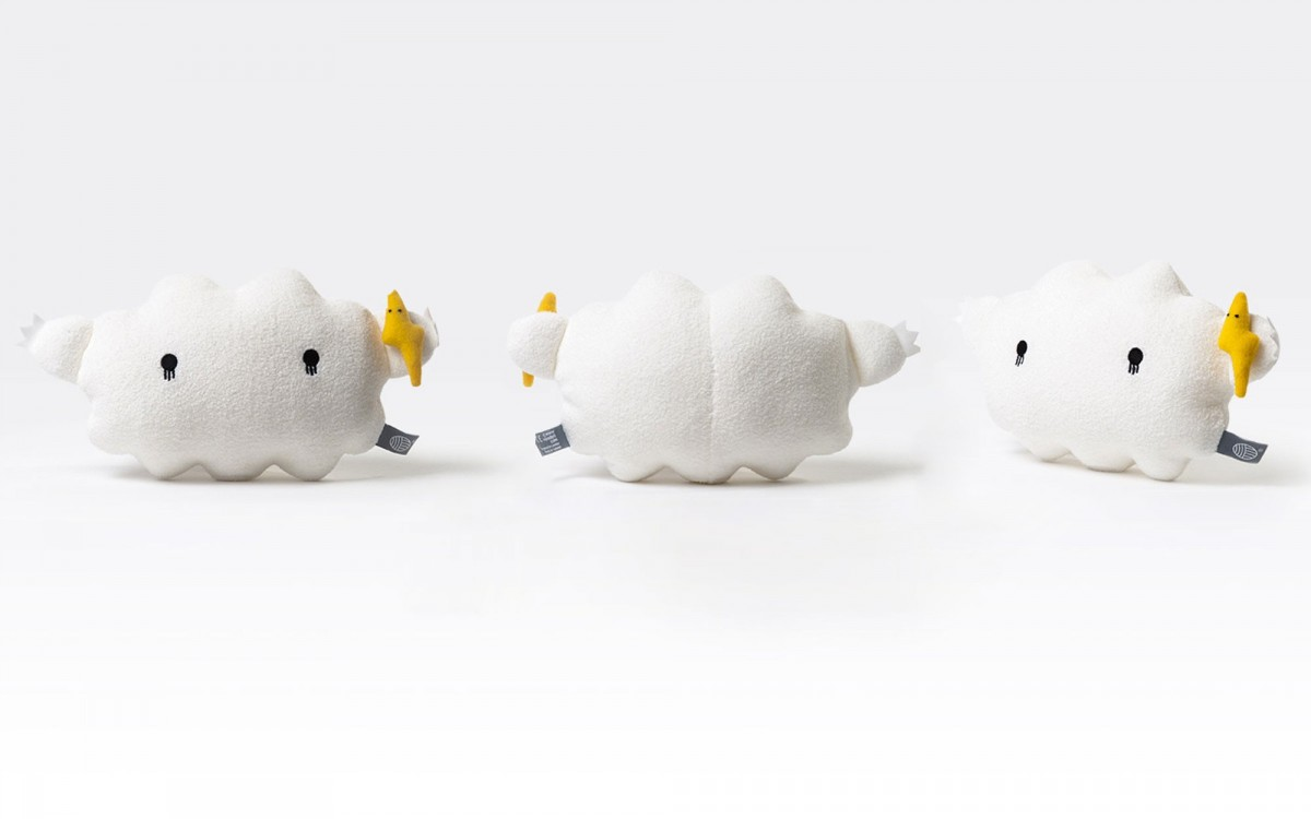 cloud plush toy Ricestorm white