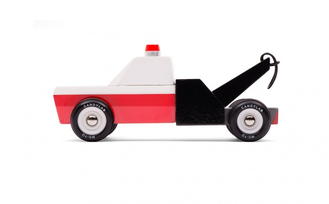wooden tow truck toy for boy kids Towie by CandyLabToys