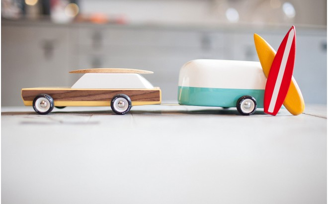 vintage car toy for kids Woodie and Camper by CandyLabToys
