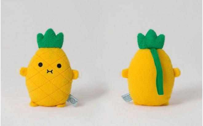 peluche doudou bébé et enfants Riceananas jaune par Noodoll