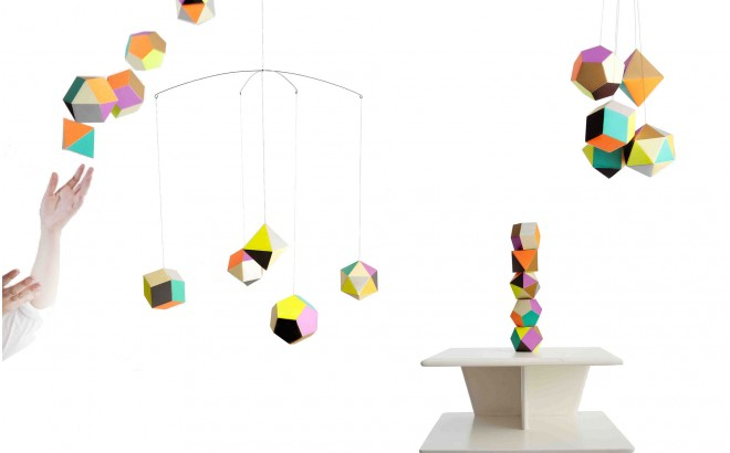 modern geometric mobile Themis for kids room