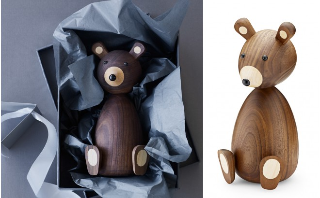 Wooden Teddy Bear by Lucie Kaas
