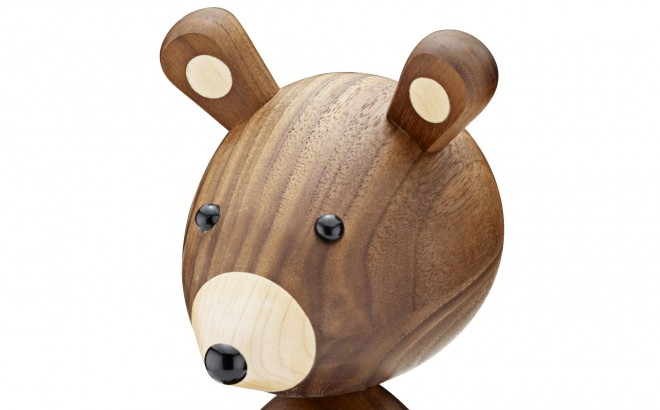 wooden bear Lucie Kaas for nursery decoration
