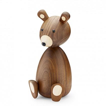 wooden bear figurine for kids room