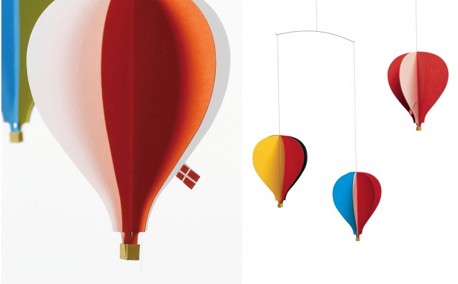 hot-air balloon baby mobile Flensted for kids room