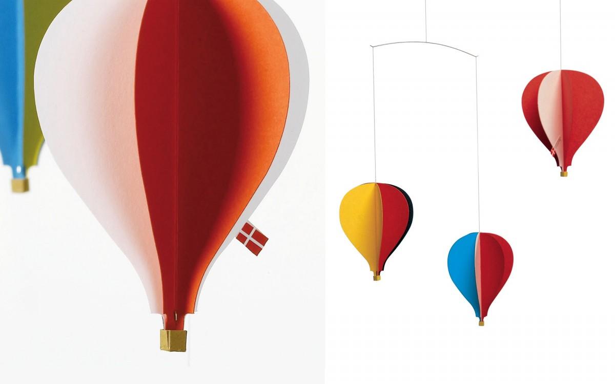 hot-air balloon 3 baby mobile