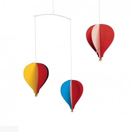 hot-air balloon baby mobile Flensted for baby nursery decoration
