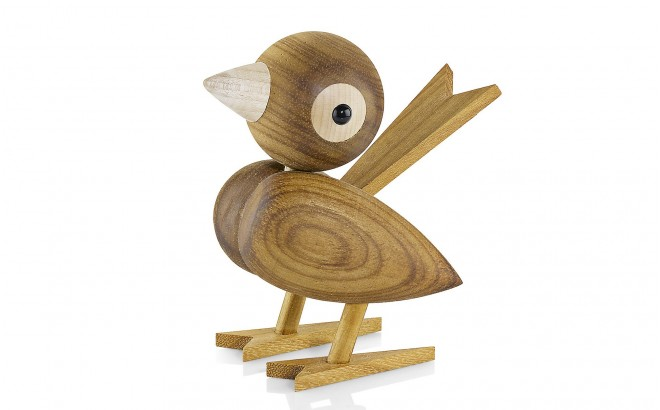 Wooden Sparrow by Lucie Kaas
