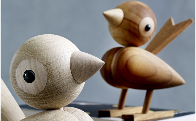 wooden sparrow figurine for kids room