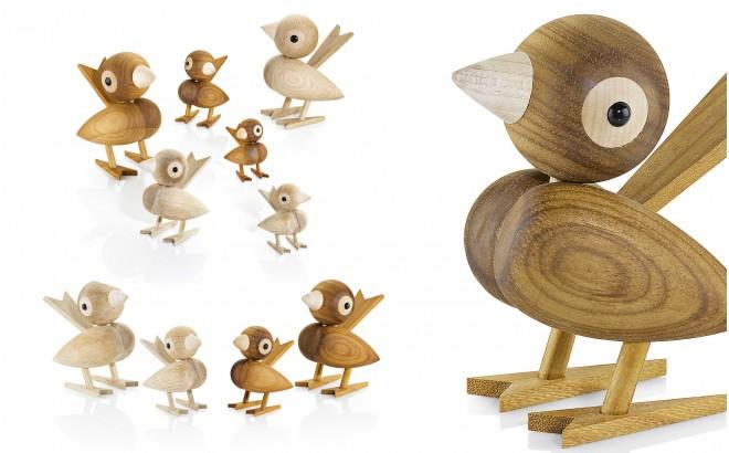 scandinavian design decorative sparrow bird