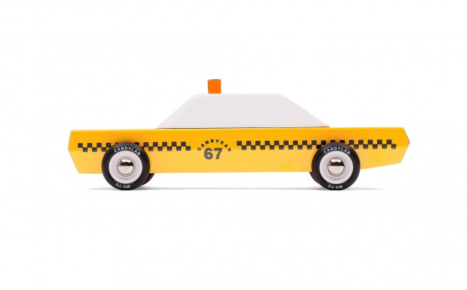 juguete taxi de madera infantil para niños CandyCab por CandyLabToys
