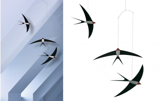Swallow baby mobile Flensted for kids room
