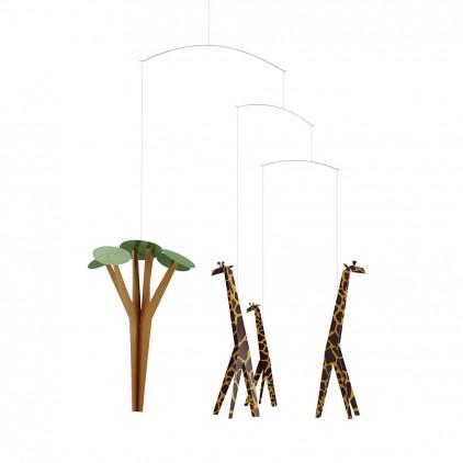 giraffe baby mobile Flensted for baby nursery decoration