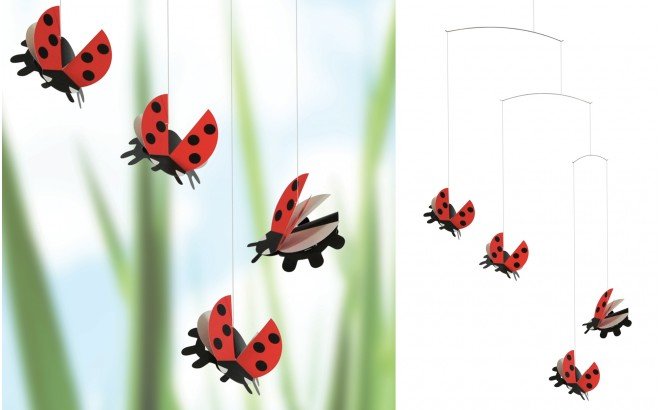 ladybugs mobile Flensted for kids room