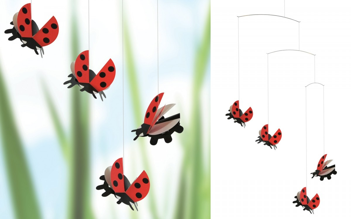 ladybug nursery mobile