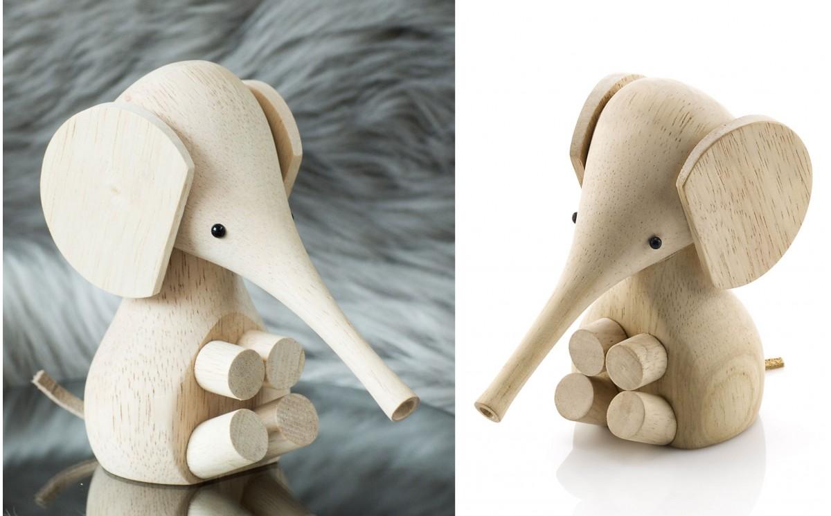 elephant en bois lucie kaas d co chambre b b design scandinave cadeau naissance. Black Bedroom Furniture Sets. Home Design Ideas