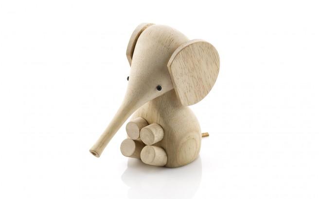 elefante de madera para decoracion infantil