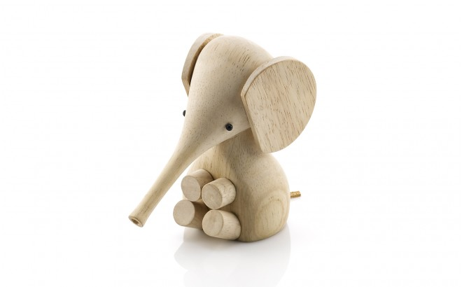 wooden elephant figurine for kids room